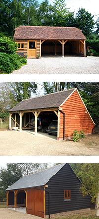Three bay garage midbrook oak garages outbuildings for Three bay garage