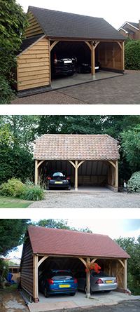 Two Bay Garage Midbrook Oak Garages Outbuildings